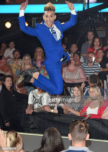 Frankie Grande is evicted from the final of Celebrity Big Brother 2016 at Elstree Studios on August 26 2016 in Borehamwood England