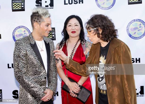 Frankie Grande Margaret Cho and Lily Tomlin attend the Voice for Animals 3rd annual 'Wait Wait Don't Kill Me' comedy gala at The Broad Stage on...