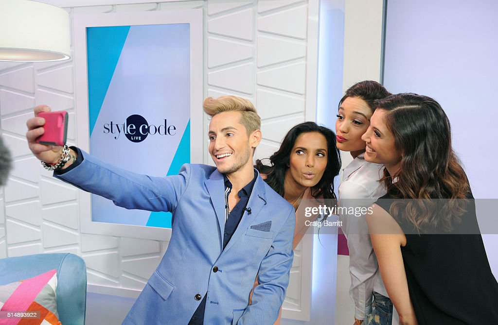 Frankie Grande, Padma Lakshmi, Rachel Smith and Lyndsey Rodrigues appear on Amazon's new live stream show, 'Style Code Live' on March 09, 2016 in New York City.