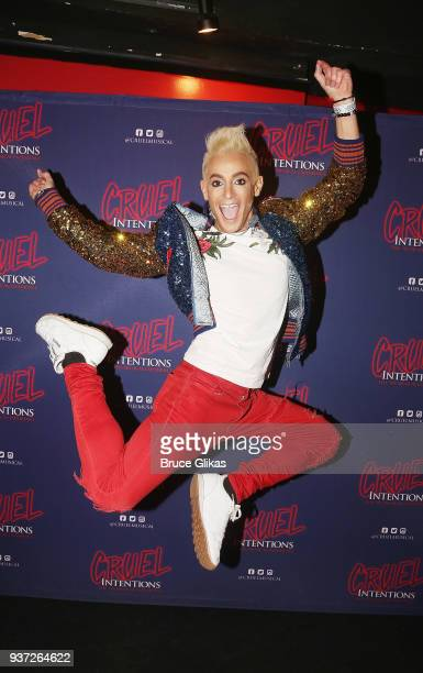 Frankie Grande poses at his Opening Night in Cruel Intentions The Musical at Le Poisson Rouge on March 23 2018 in New York City