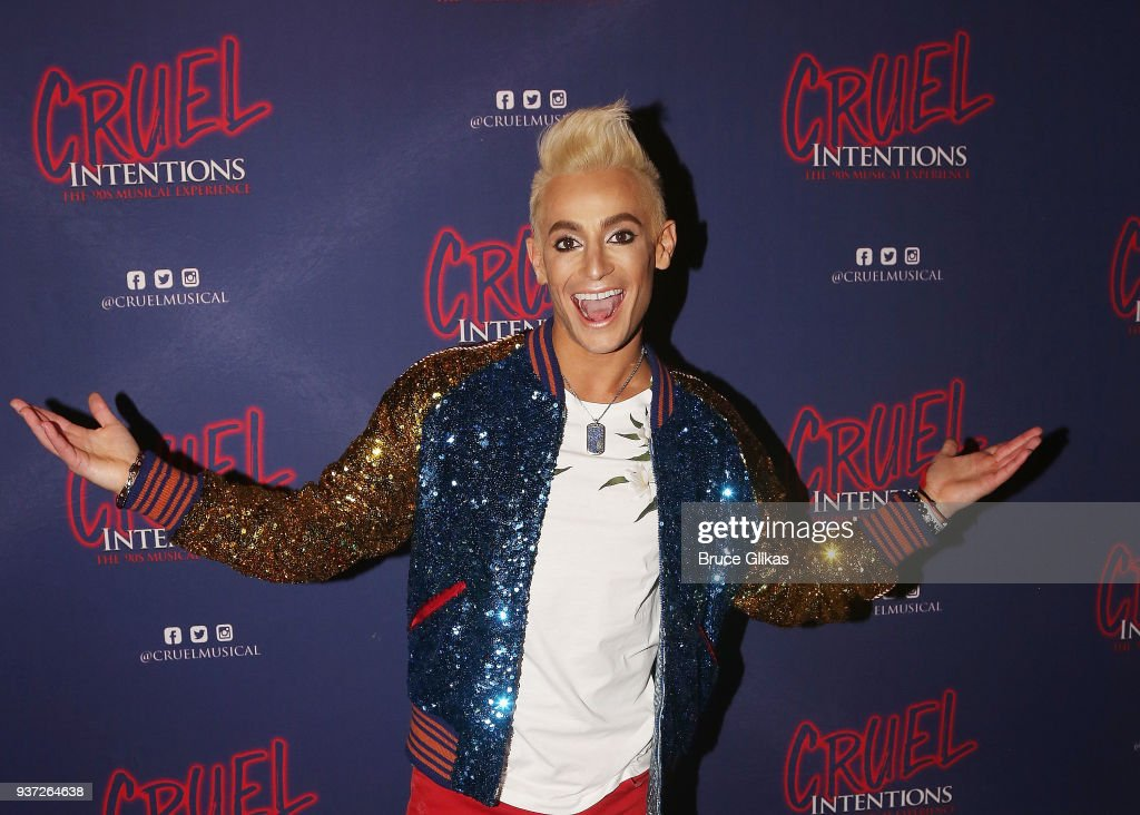 Frankie Grande poses at his Opening Night in 'Cruel Intentions: The Musical' at Le Poisson Rouge on March 23, 2018 in New York City.