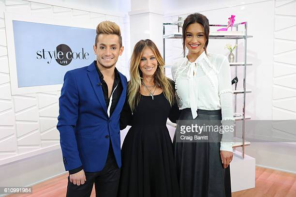 """Frankie Grande, special guest Sarah Jessica Parker and Rachel Smith film an episode of Amazon's Live Stream Fashion and Beauty Show, """"Style Code..."""