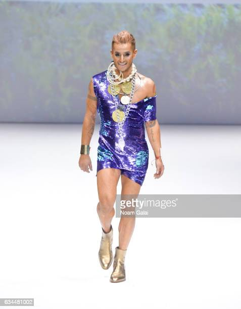 Frankie Grande walks the runway at the Popoganda By Richie Rich fashion show during February 2017 New York Fashion Week at The Theater at Madison...