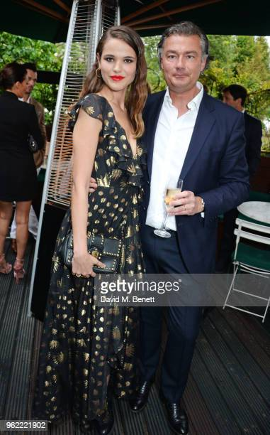 Frankie Herbert and Laurent Feniou attend a private dinner hosted by Cartier to celebrate the opening of the British Polo Season at Casa Cruz on May...
