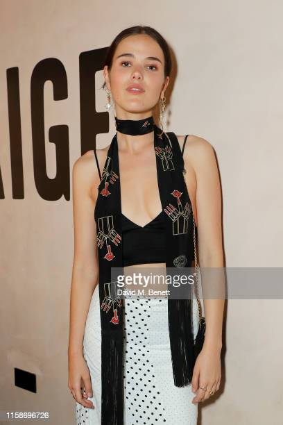 Frankie Herbert attends the PAIGE fashion dinner hosted by founder creative director Paige AdamsGeller at Gold Notting Hill on June 27 2019 in London...