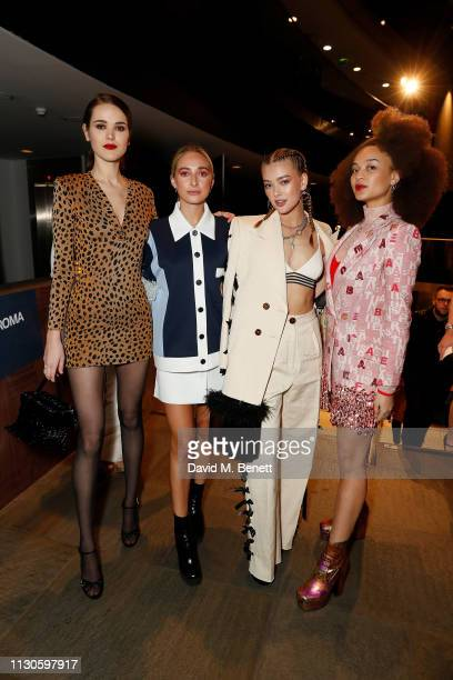 Frankie Herbert Rachel McDowall Jessica Alexander and Connie Constance attend Naked Heart Foundation's Fund Fair with LuisaViaRoma at The Roundhouse...