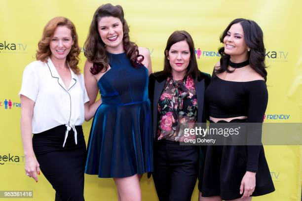 Frankie Ingrassia Taylor C Baker Kira Reed Lorsch and Chelsea Alana Rivera attend the 'Female Friendly' Screening at The Three Clubs Hollywood...