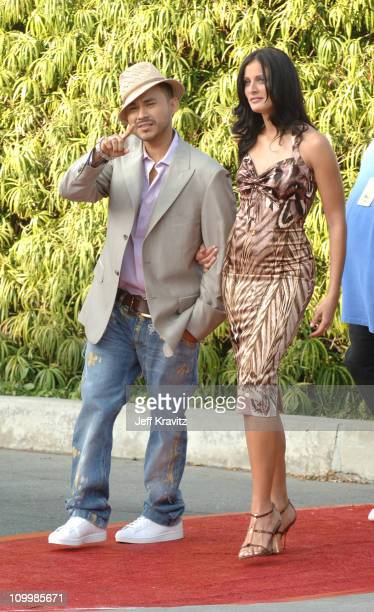 Frankie J and Dayanara Torres Delgado during 2005 Teen Choice Awards Arrivals at Gibson Amphitheater in Universal City California United States
