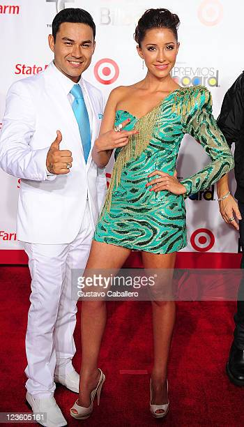 Frankie J and Fernanda Romero arrives at the 2011 Billboard Latin Music Awards at Bank United Center on April 28 2011 in Miami Florida