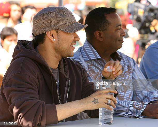 Frankie J and Johnny Wright during MTV and MTV Tr3s Join Forces to Find the New Menudo Casting Call at Plaza Mexico in Lynwood California United...
