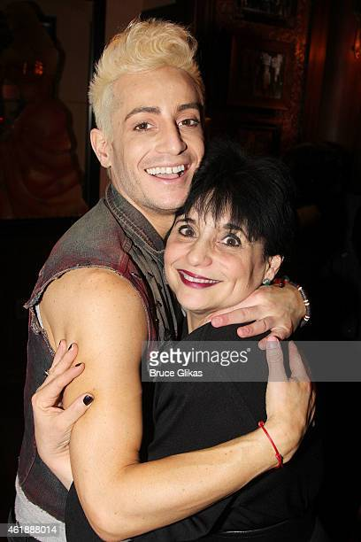 Frankie J Grande and his mother Joan Grande pose at his new show 'Livin' La Vida Grande' at 54 Below on January 20 2015 in New York City