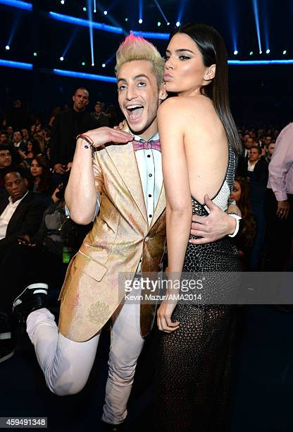 Frankie J Grande and Kendall Jenner attend the 2014 American Music Awards at Nokia Theatre LA Live on November 23 2014 in Los Angeles California