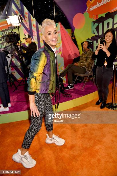 Frankie J Grande attends Nickelodeon's 2019 Kids' Choice Awards at Galen Center on March 23 2019 in Los Angeles California
