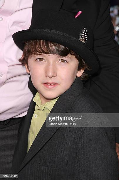 Frankie Jonas arrives at the Walt Disney Pictures' Jonas Brothers The 3D Concert Experience at the El Capitan Theatre in Hollywood California on...