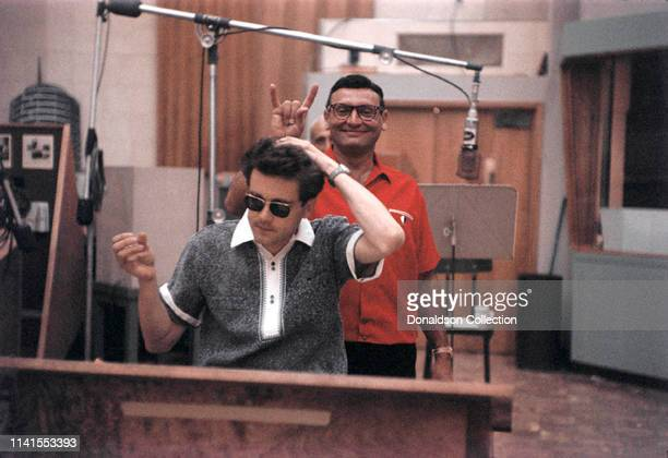 Frankie Laine at a recording session with Michel Legrand on May 26 1958