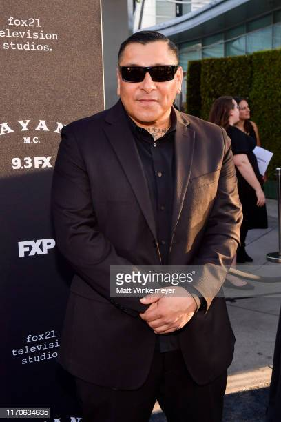Frankie Loyal attends the premiere of FX's Mayans MC Season 2 at ArcLight Cinerama Dome on August 27 2019 in Hollywood California