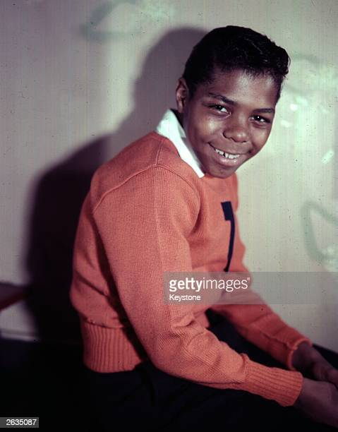 Frankie Lymon of the popular young American vocal group Frankie Lymon and The Teenagers The 13yearold Junior High School pupil from Harlem New York...