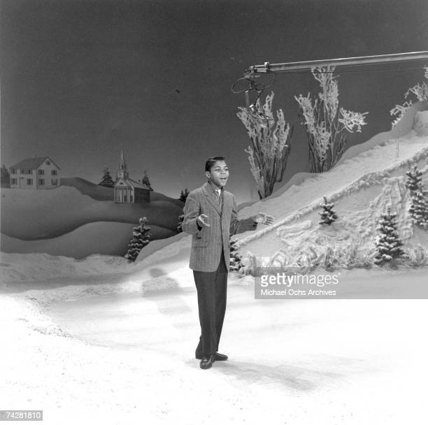 Frankie Lymon performs on the Ed Sullivan show on December 22 1957 in New York city New York