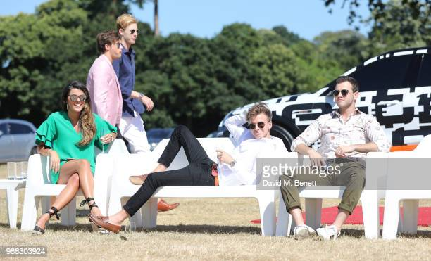 Frankie Mendola Bryon Langley Joshua Pieters Joe Sugg and Benji Schaffer attend the Audi Polo Challenge at Coworth Park Polo Club on June 30 2018 in...