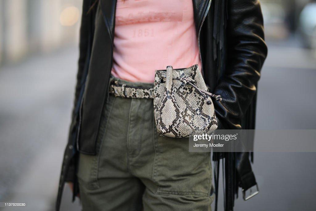 Street Style - Berlin - March 20, 2019 : Nachrichtenfoto