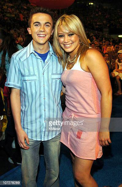 Frankie Muniz and Hilary Duff during Nickelodeon's 17th Annual Kids' Choice Awards Backstage at Pauley Pavillion in Westwood California United States