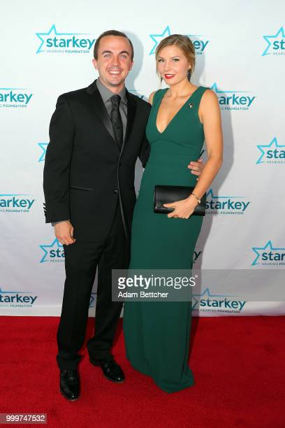 Frankie Muniz and Paige Price walk the red carpet at the 2018 So the World May Hear Awards Gala benefitting Starkey Hearing Foundation at the Saint...