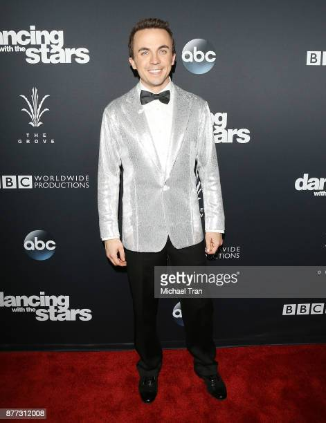 Frankie Muniz arrives at the 'Dancing With The Stars' Season 25 finale held at The Grove on November 21 2017 in Los Angeles California
