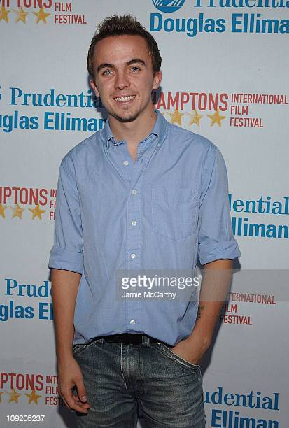Frankie Muniz arrives at the Hamptons Film Festival Screening My Sexiest Year Red Carpet at the United Artists Theater in East Hampton New York...