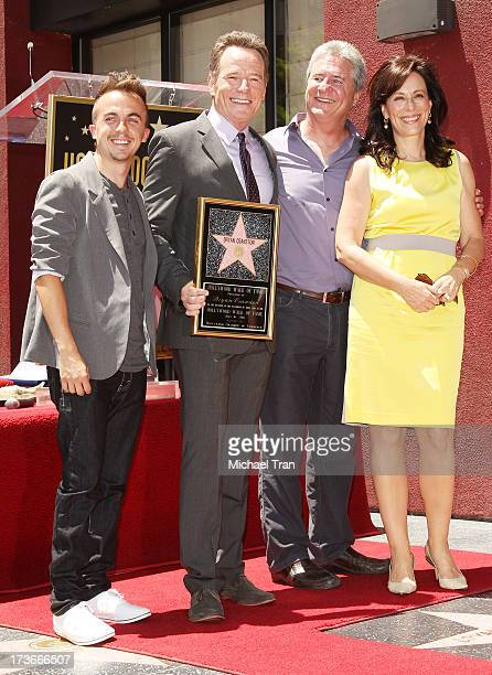 Frankie Muniz Bryan Cranston Linwood Boomer and Jane Kaczmarek attend the ceremony honoring Bryan Cranston with a Star on The Hollywood Walk of Fame...