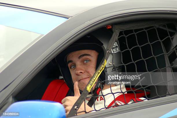 Frankie Muniz during 2004 Toyota Long Beach Grand Prix Pro/Celebrity Race Press Day at LB Grand Prix Pit Lane in Long Beach California United States
