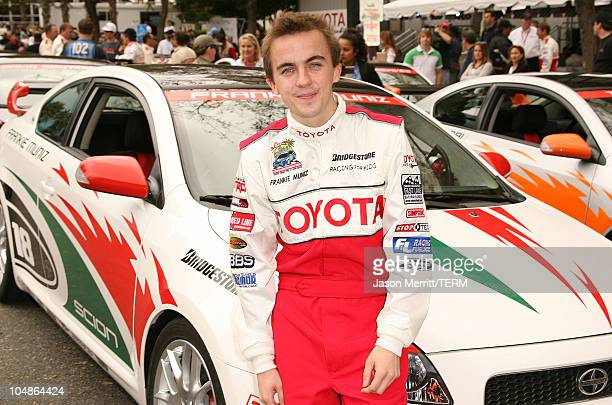 Frankie Muniz during 30th Anniversary Toyota Pro/Celebrity Race Qualifying Day at Streets of Long Beach in Long Beach California United States