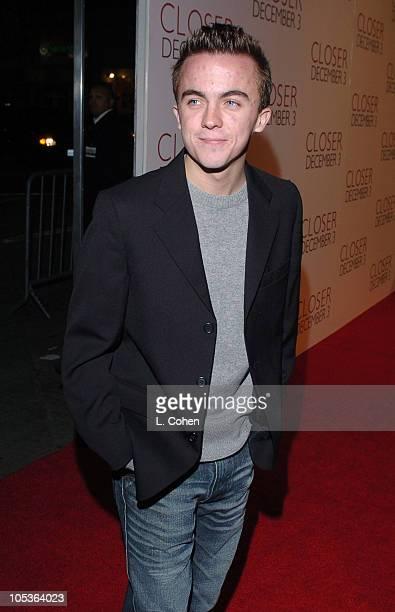Frankie Muniz during Closer Los Angeles Premiere Red Carpet at Mann Village in Los Angeles California United States