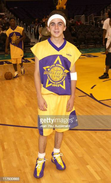 Frankie Muniz during Magic Johnson's 17th Annual Celebrity Basketball Game at Staples Center in Los Angeles California United States