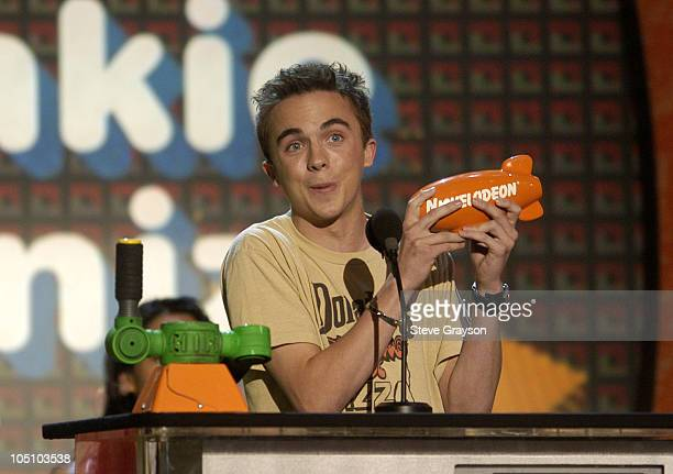 Frankie Muniz during Nickelodeon's 16th Annual Kids' Choice Awards 2003 Show at Barker Hangar in Santa Monica California United States