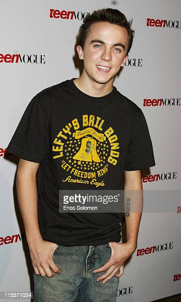 Frankie Muniz during Teen Vogue Young Hollywood Party at Chateau Marmont in West Hollywood California United States