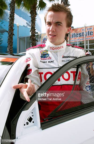 Frankie Muniz during Toyota Pro/Celebrity Long Beach Grand Prix Race Celebrity Race Day at Streets of Long Beach in Long Beach California United...