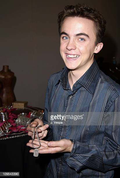 Frankie Muniz during VH1 Big in 2002 Awards Backstage Creations Talent Retreat Show Day at Grand Olympic Auditorium in Los Angeles California United...