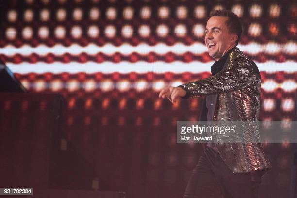 Frankie Muniz performs on stage during Dancing With The Stars Live at WaMu Theater on March 13 2018 in Seattle Washington