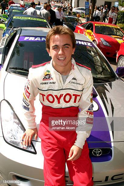 Frankie Muniz prior to qualifying run for the 2005 Toyota Pro/Celebrity race in Long Beach California on April 8 2005