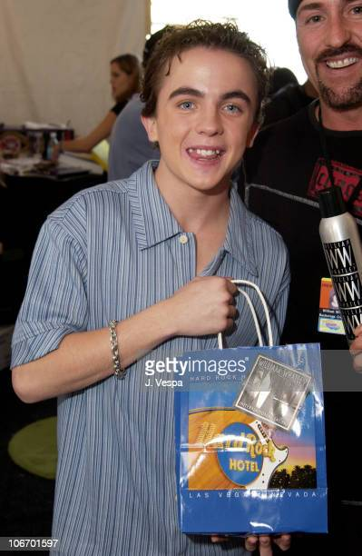 Frankie Muniz with William Whatley Hair Products during Nickelodeon's 15th Annual Kids Choice Awards Backstage Creations Talent Retreat Day 2 at...