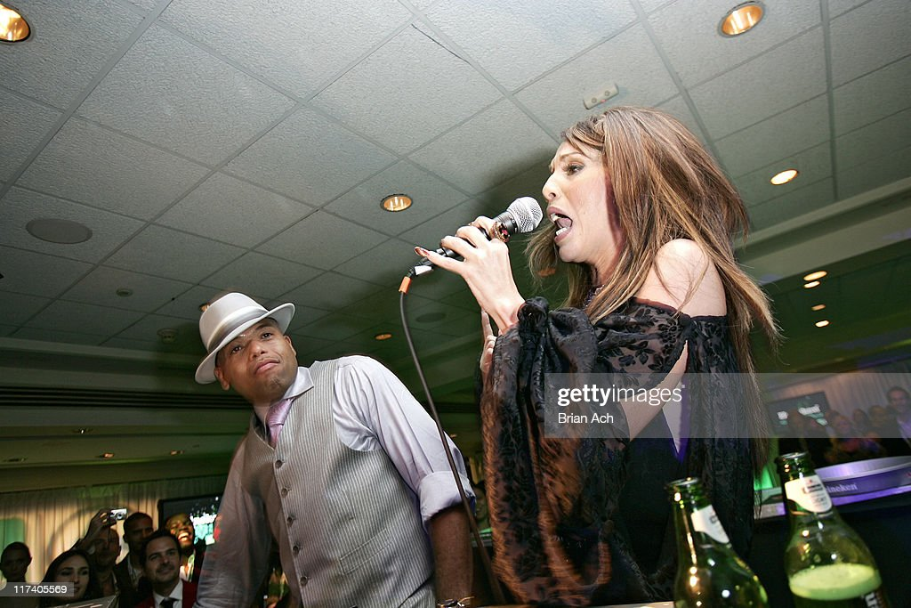 DJ Frankie Needles and Ivy Queen during The 7th Annual Latin GRAMMY Awards - After Party - Heineken at Sheraton Hotel NY in New York City, New York, United States.