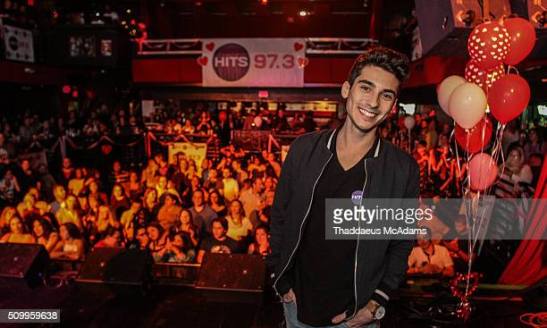 Frankie P at Natalie La Rose at 973 Hit Sessions at Revolution Live on February 12 2016 in Fort Lauderdale Florida