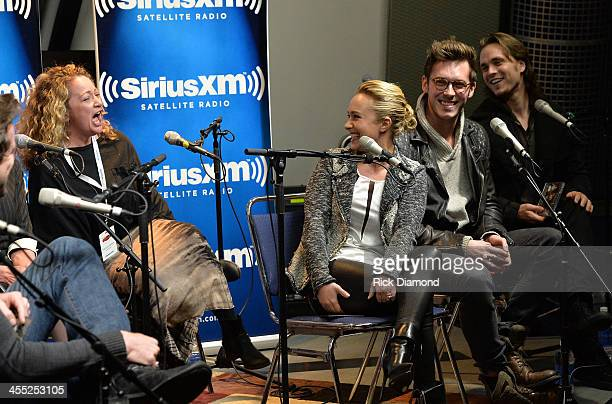 Frankie Pine ABC music supervisor Recording Artists/Actors Hayden Panettiere Sam Palladio and Jonathan Jackson cast members of the ABC TV show...