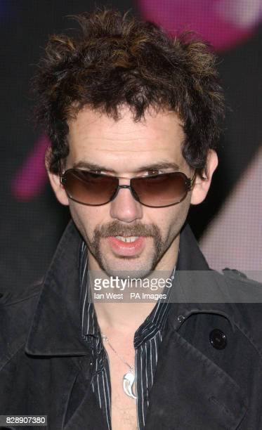 Frankie Poullain bass player for The Darkness at HMV Oxford Street before they signed copies of their new Christmas single 'Christmas Time ' in store...