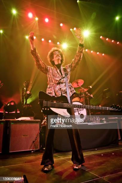 Frankie Poullain of the British band The Darkness performs live on stage during a concert at the Kesselhaus on February 12 2020 in Berlin Germany
