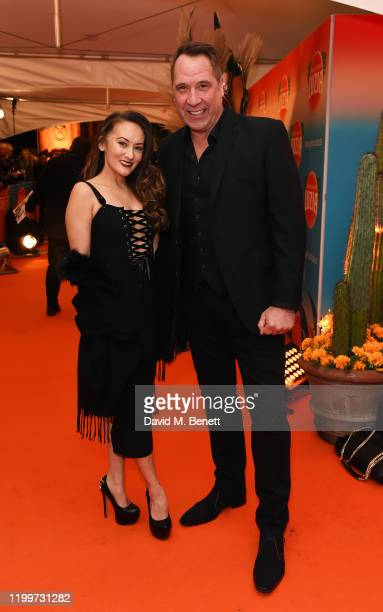 Frankie Poultney and David Seaman arrive at the gala performance of Cirque De Soleil's LUIZA at The Royal Albert Hall on January 15 2020 in London...