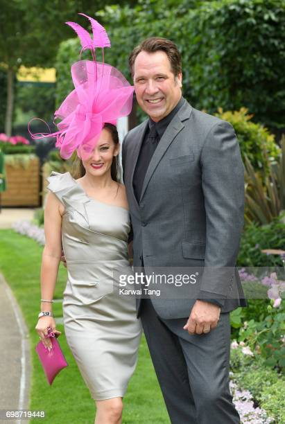 Frankie Poultney and David Seaman attend Royal Ascot 2017 at Ascot Racecourse on June 20 2017 in Ascot England