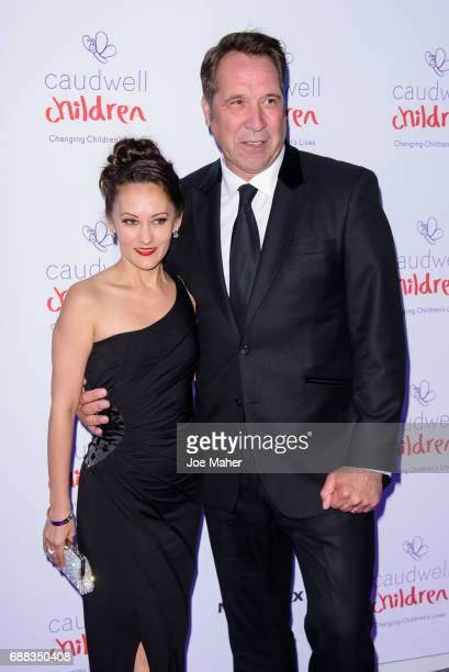Frankie Poultney and David Seaman attend the Caudwell Children Butterfly Ball at Grosvenor House on May 25 2017 in London England
