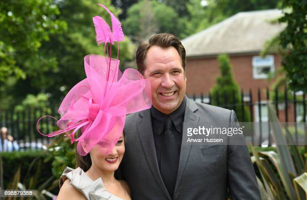 Frankie Poultney and David Seaman attend the first day off Royal Ascot 2017 at Ascot Racecourse on June 20 2017 in Ascot England