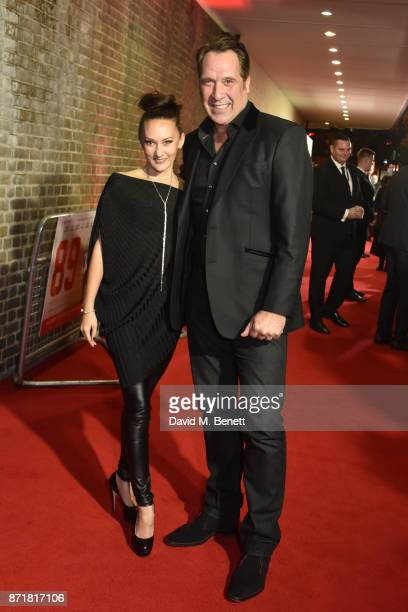 Frankie Poultney and David Seaman attend the World Premiere of 89 at the Odeon Holloway on November 8 2017 in London England